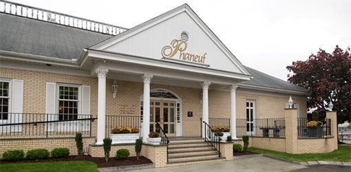 Phaneuf Funeral Home Front View, Hanover St, Manchester - Manchester NH Funeral Services