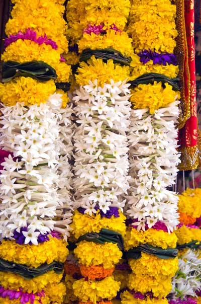Hindu flower garland