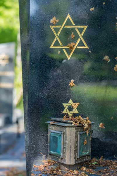 Jewish cemetery: Star of David on the tombstone