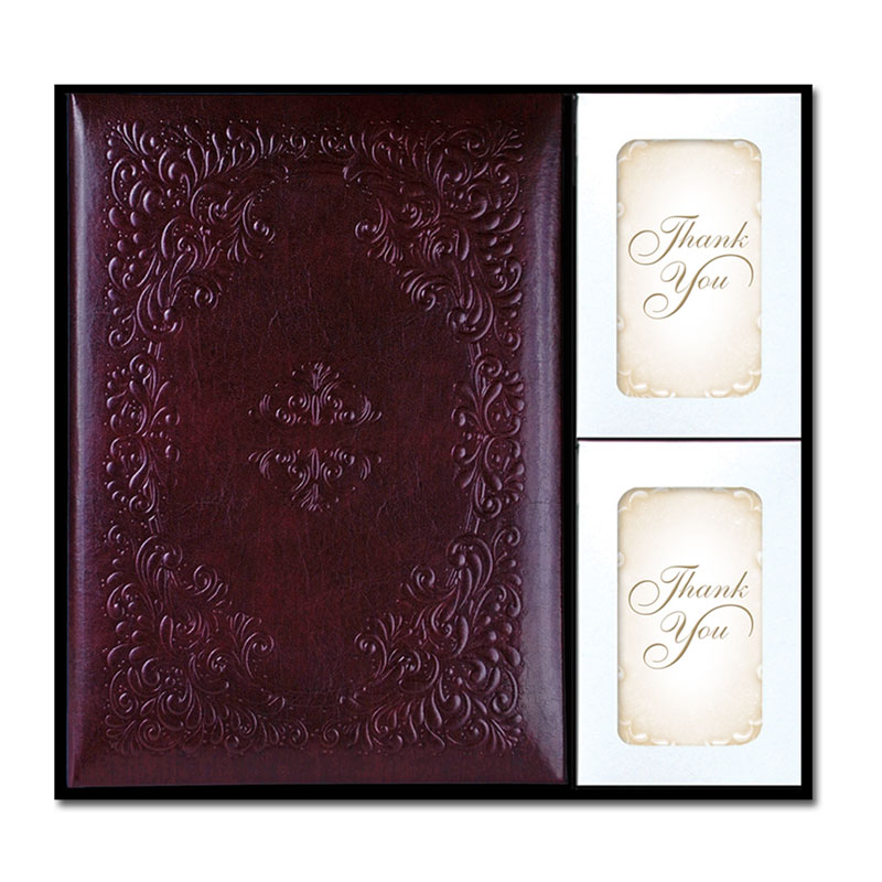 Leather memorial record book