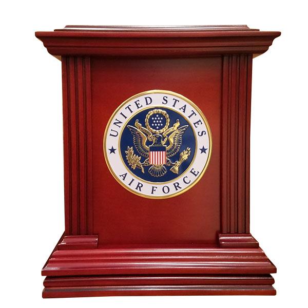 Wood Veteran's Urn