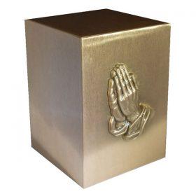Cast Bronze Urn - Praying Hands