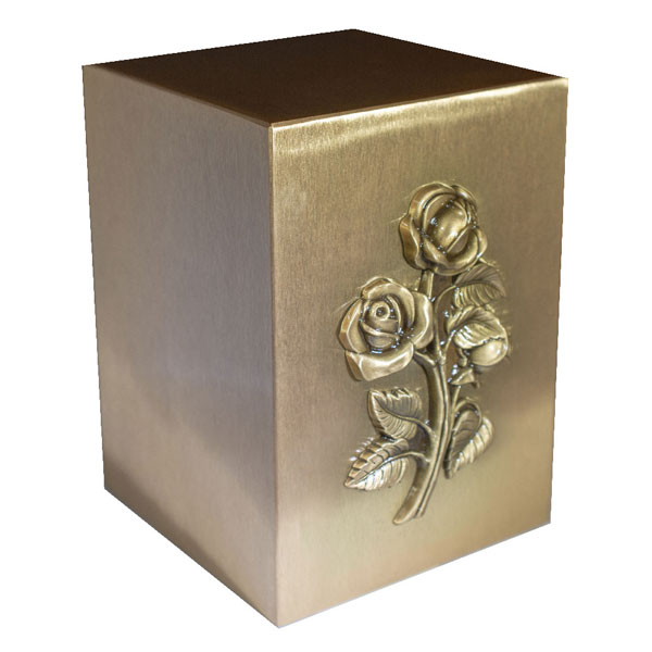 Cast Bronze Urn - Rose