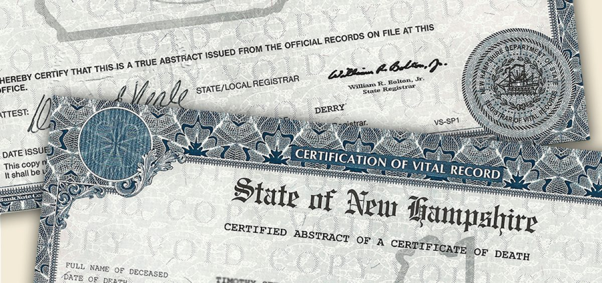 What You Should Know About Death Certificates in New Hampshire | Phaneuf