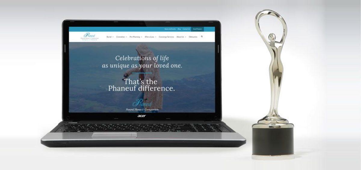 Phaneuf website wins Communicator Award