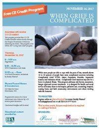November grief event flyer
