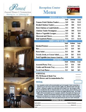 Cafe menu thumbnail