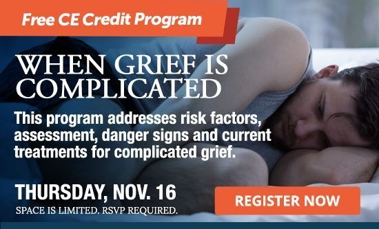 When Grief is Complicated, a free CE Credit Program for caregivers