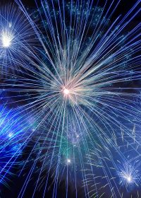 Fireworks scatting cremains