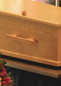 Wooden casket for green burials