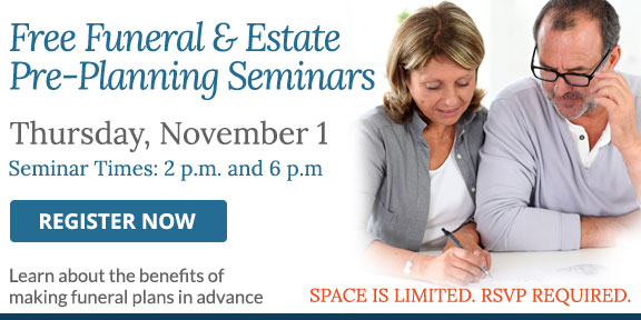 Free funeral and estate planning seminars