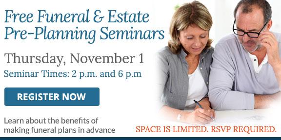 Free funeral and estate planning seminars
