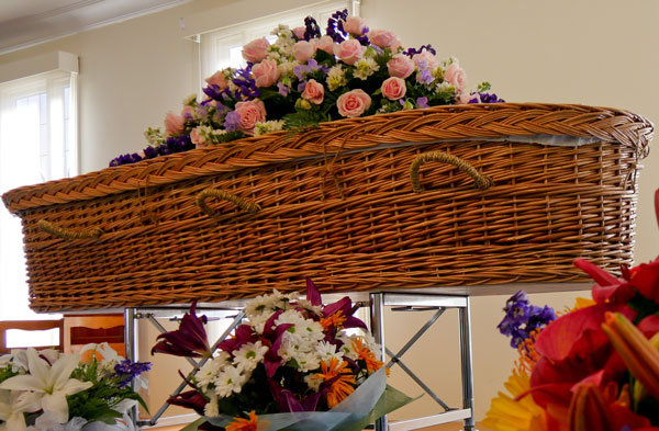Wicker casket for green burials