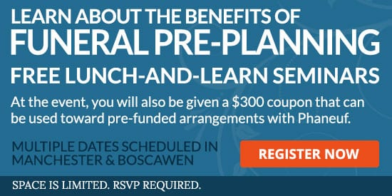 2019 Lunch and Learn Pre-planning seminars