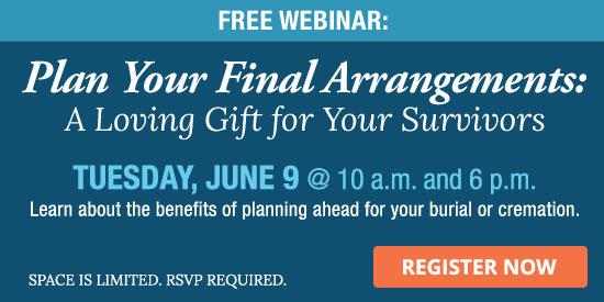 Free funeral planning webinar